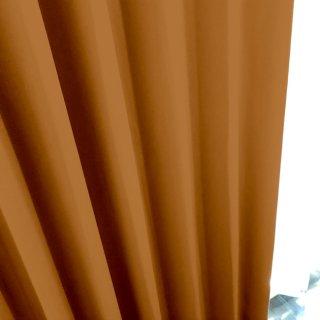 【遮光カーテン】遮光1級/遮熱/防炎機能付 出窓もOKのおしゃれなオーダーカーテン <tea party - トロピカルマンゴー> オレンジ