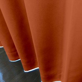 【遮光カーテン】遮光1級/遮熱/防炎機能付 出窓もOKのおしゃれなオーダーカーテン <tea party - ブラッドオレンジジュース> オレンジ