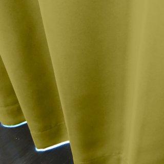 【遮光カーテン】遮光1級/遮熱/防炎機能付 出窓もOKのおしゃれなオーダーカーテン <tea party - ピスタチオソルベ> イエロー