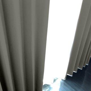 【遮光カーテン】遮光1級/遮熱/防炎機能付 出窓もOKのおしゃれなオーダーカーテン <tea party - アイアンウォール> グレー