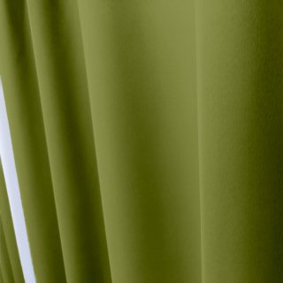 【遮光カーテン】遮光1級/遮熱/防炎機能付 出窓もOKのおしゃれなオーダーカーテン <tea party - レモングラス> グリーン