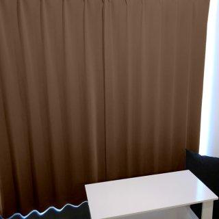 【遮光カーテン】遮光1級/遮熱/防炎機能付 出窓もOKのおしゃれなオーダーカーテン <tea party - モンブラン> ブラウン
