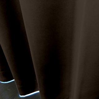 【遮光カーテン】遮光1級/遮熱/防炎機能付 出窓もOKのおしゃれなオーダーカーテン <tea party - トリュフ> ブラウン