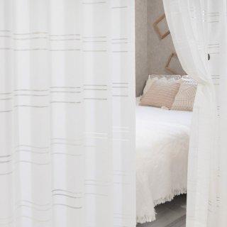 【多機能レースカーテン】遮像/UVカット/花粉キャッチ <フィオナ>