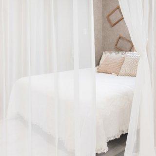 【透ける素材のレースカーテン】明るいお部屋似合うカーテン <アリア>