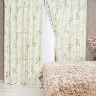 【遮光カーテン】多機能付のおしゃれなカーテン 遮熱/保温/防音/遮光1級 <プランタ グリーン>