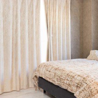 【遮光カーテン】多機能付のおしゃれなカーテン 遮熱/保温/防音/遮光1級 <カルカ ベージュ>