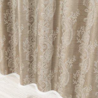 【遮光カーテン】多機能付のおしゃれなカーテン 遮熱/保温/防音/遮光1級 <カルカ ブラウン>
