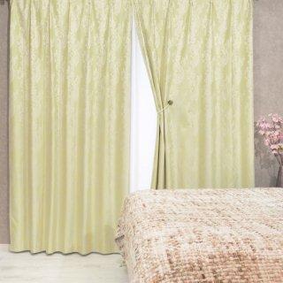 【遮光カーテン】多機能付のおしゃれなカーテン 遮熱/保温/防音/遮光1級 <カルカ イエロー>