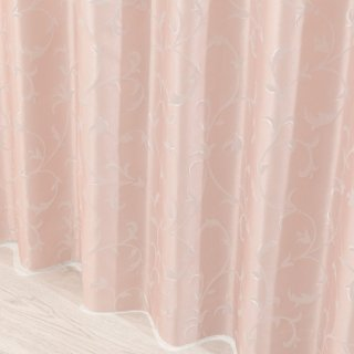 クラシックで高級感あふれるゴージャスなカーテン 遮熱/保温/防音/遮光1級【フォリア】ピンク おしゃれなインテリアにおすすめの国産オーダーカーテン 寝室や出窓にも◎