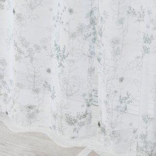【花柄レースカーテン】ナチュラルで可愛い花柄デザイン <リバティボイル>