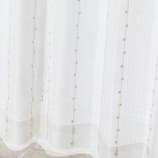 可愛い多機能レース 防炎/遮熱/UVカット【シュガー】 おしゃれなインテリアにおすすめの国産オーダーカーテン 寝室や出窓、カフェカーテンにも◎