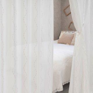 可愛い多機能レース 防炎/遮熱/UVカット【カプリス】 おしゃれなインテリアにおすすめの国産オーダーカーテン 寝室や出窓、カフェカーテンにも◎