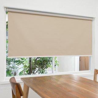 【ロールスクリーン】賃貸もOK 工事不要で簡単取付 送料無料 遮光1級 つっぱりタイプロールスクリーン <ミライ 遮光 グレーベージュ>