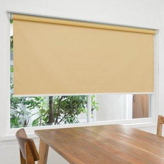 【ロールスクリーン】賃貸もOK 工事不要で簡単取付 送料無料 遮光1級 つっぱりタイプロールスクリーン <ミライ 遮光 ラテブラウン>