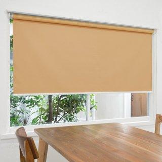 【ロールスクリーン】賃貸もOK 工事不要で簡単取付 送料無料 遮光1級 つっぱりタイプロールスクリーン <ミライ 遮光 コルクブラウン>