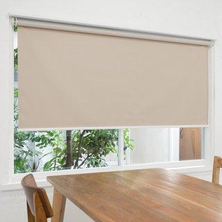 【ロールスクリーン】賃貸もOK 工事不要で簡単取付 送料無料 遮光1級 つっぱりタイプロールスクリーン <ミライ 遮光 シルバーグレー>