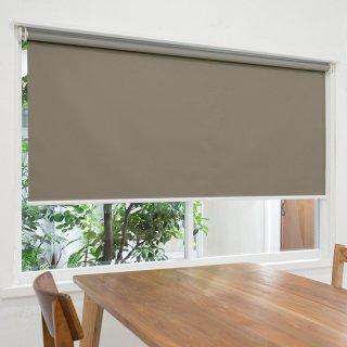【ロールスクリーン】賃貸もOK 工事不要で簡単取付 送料無料 遮光1級 つっぱりタイプロールスクリーン <ミライ 遮光 グレー>