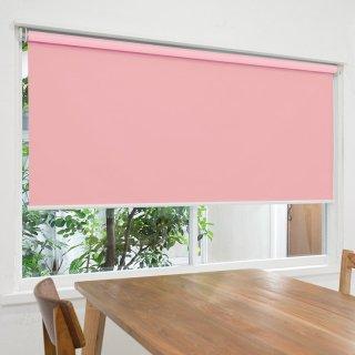 【ロールスクリーン】賃貸もOK 工事不要で簡単取付 送料無料 遮光1級 つっぱりタイプロールスクリーン <ミライ 遮光 ピンク>