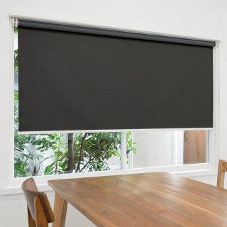 【ロールスクリーン】賃貸もOK 工事不要で簡単取付 送料無料 遮光1級 つっぱりタイプロールスクリーン <ミライ 遮光 ブラック>