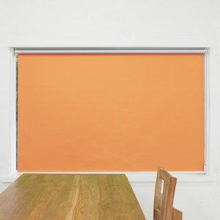 【ロールスクリーン】賃貸もOK 工事不要で簡単取付 送料無料 遮光1級 つっぱりタイプロールスクリーン <ミライ 遮光遮熱 オレンジ>