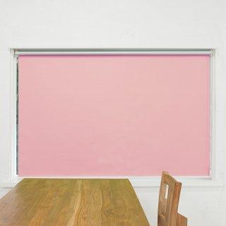 【ロールスクリーン】賃貸もOK 工事不要で簡単取付 送料無料 遮光1級 つっぱりタイプロールスクリーン <ミライ 遮光遮熱 ピンク>