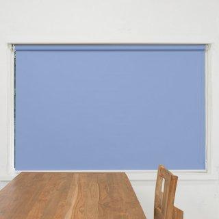 【ロールスクリーン】賃貸もOK 工事不要で簡単取付 送料無料 遮光1級 つっぱりタイプロールスクリーン <ミライ 遮光撥水 ブルー>