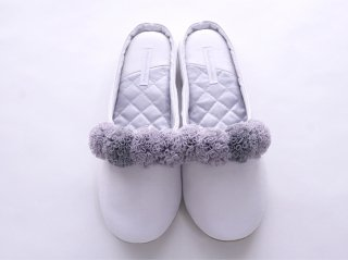 Pompon Slippers(gray)