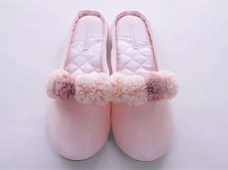 Pompon Slippers(pink)