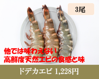 3尾・ドデカエビ(3Lサイズ大きめ)