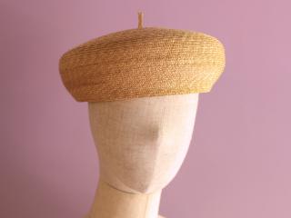 麦わら素材のベレー帽 エリー Elie