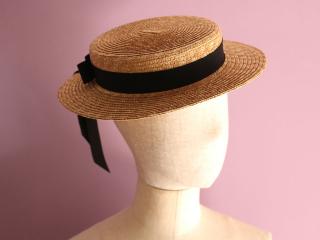 麦わら帽のヘッドピース Vivien ヴィヴィアン