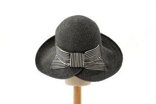 ペーパーブレードの麦わら帽子 デイジーグレイ Daisy Gray
