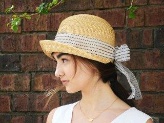 こつばの麦わら帽子 ジジ ヴィンテージリボンGigi Vintage
