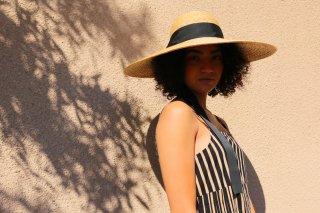 広つばの麦わら帽子アデレーン Adeline