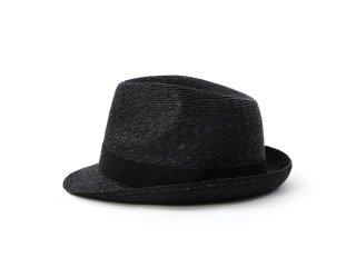 ショートブリムの黒中折れ帽 マーロウ Marlowe