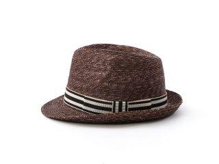 ショートブリムのブラウン中折れ帽 マーロウ Marlowe