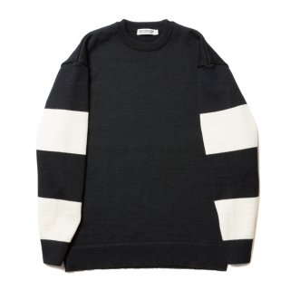 COOTIE/SLEEVE BORDER KNIT SWEATER