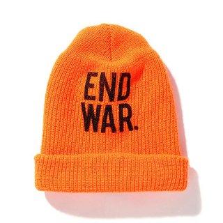 CHALLENGER/END WAR KNIT CAP/オレンジ