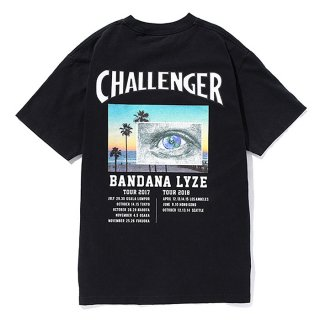 CHALLENGER/EYE AND THE EARTH TEE/ブラック