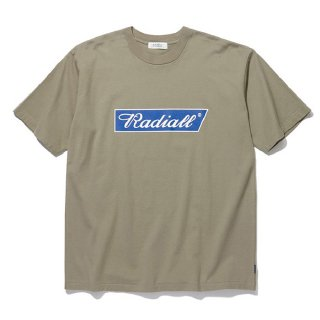 RADIALL/FLAGS-CREW NECK T-SHIRT S/S/カーキ