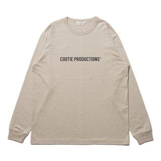 COOTIE/PRINT L/S TEE(COOTIE LOGO)/ベージュ