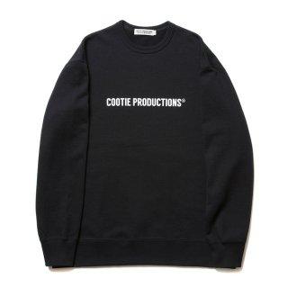 COOTIE/PRINT CREWNECK SWEATSHIRT(COOTIE LOGO)/ブラック