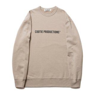 COOTIE/PRINT CREWNECK SWEATSHIRT(COOTIE LOGO)/ベージュ