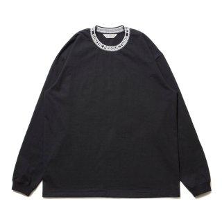 COOTIE/JACQUARD COLLAR L/S TEE/ブラック
