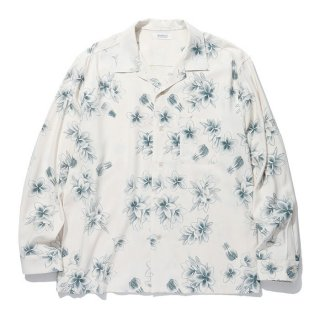 RADIALL/REQUESTS MUSIC-OPEN COLLARED SHIRT L/S