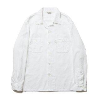 COOTIE/PAISLEY OPEN-NECK L/S SHIRT/ホワイト