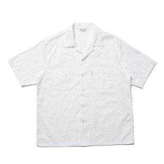 COOTIE/PAISLEY OPEN-NECK S/S SHIRT/ホワイト