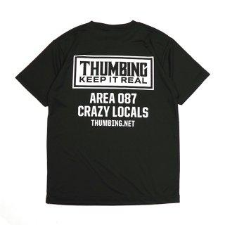 THUMBING/ACTIVE S/S TEE/ブラック/送料無料