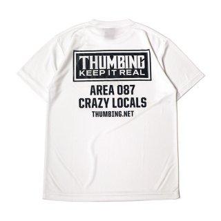 THUMBING/ACTIVE S/S TEE/ホワイト/送料無料